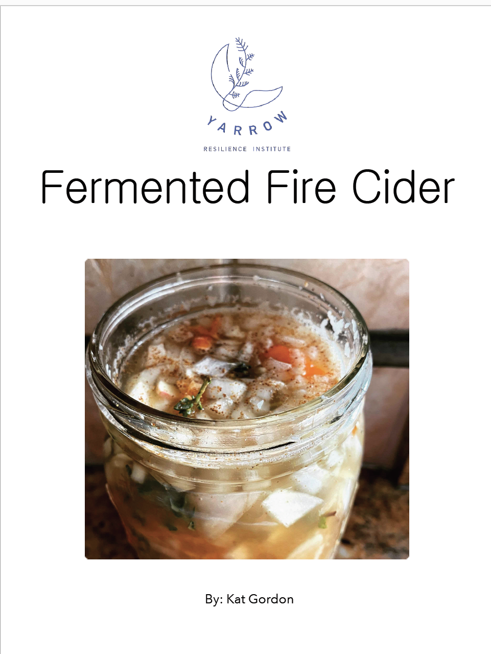 Fermented Fire Cider Ebook